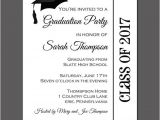 Printed Graduation Party Invitations Graduation Party Invitation Printable or Printed with Free