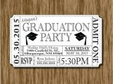 Printed Graduation Party Invitations Graduation Party Invitation Ticket Printable