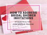 Proper Way to Address Bridal Shower Invitations How to Address Bridal Shower Invitations Pretty
