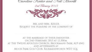 Proper Wording Of Wedding Invitations Proper Wedding Invitation Wording Wedding Invitation