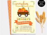 Pumpkin Patch Party Invitations Pumpkin Patch Birthday Invitation Girl Boy Little