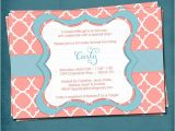 Punchbowl Bridal Shower Invitations Pretty Punch Quatrefoil Graduation Baby Bridal Shower