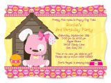 Puppy Birthday Party Invites Dog themed Birthday Party Invitations Dolanpedia