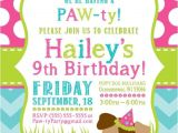 Puppy Birthday Party Invites Party Invitation Templates Dog Party Invitations