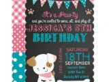 Puppy Birthday Party Invites Puppy Party Invitation Puppy Paw Ty Birthday Zazzle