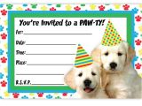 Puppy Birthday Party Invites Puppy Party Invitations theruntime Com