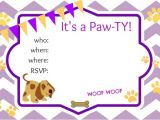 Puppy Party Invites Puppy Party Ideas About A Mom