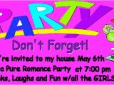 Pure Romance Party Invitation Template Invitations Pure Romance by Anonymous April 26 2009