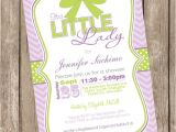 Purple and Green Baby Shower Invitations It S A Little Lady Girl Baby Shower Invitation Green
