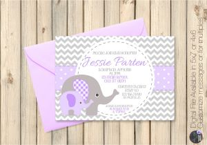 Purple and Grey Baby Shower Invitations Purple and Grey Baby Shower Invitations Grey and Purple Baby