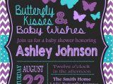 Purple butterfly Baby Shower Invites butterfly Baby Shower Invitation Purple and Teal