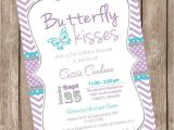 Purple butterfly Baby Shower Invites Purple butterfly Baby Shower Invitations