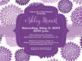 Purple butterfly Baby Shower Invites theme Purple Baby Shower Invitations