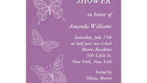 Purple butterfly Bridal Shower Invitations Filigree butterfly Bridal Shower Purple Personalized