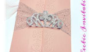 Quinceanera Invitations Online 50 Pink Princess Invitations Quinceanera Sweet 16 Birthday