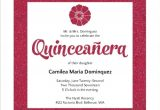 Quinceaneras Invitations Cards Modern Pink Faux Glitter Quinceanera Invitation