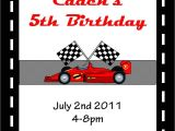 Race Car Party Invitation Templates 5 Best Images Of Race Car Invitations Printable Race Car