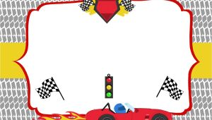 Race Car Party Invitation Templates Free Printable Race Car Birthday Party Invitations