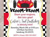 Race Car Party Invitation Templates Printable Race Car Birthday Party Invitation