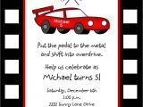 Race Car Party Invitation Templates Race Car Birthday Invitation Template Free