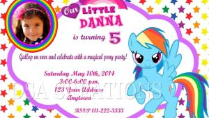 Rainbow Dash Party Invitations 12 My Little Pony Rainbow Dash Birthday Party Invitations