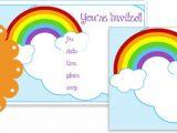 Rainbow Party Invitation Template Printable Rainbow Party Invitations Printable Treats Com