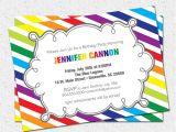 Rainbow Party Invitation Template Rainbow Invitation Template Google Search Preschool