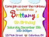 Rainbow Party Invitation Template Rainbow Party Invitation Birthday Party Rainbow Party