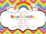 Rainbow Party Invitation Template Rainbow Party Invitations Templates Free Chevron Over the