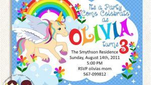 Rainbow Unicorn Birthday Invitations Free 9 Best Images Of Free Printable Unicorn Invitations