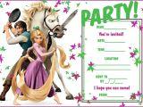 Rapunzel Birthday Invitation Template 40th Birthday Ideas Tangled Birthday Invitation Templates