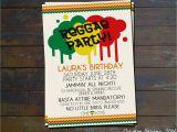 Rasta Party Invitations Reggae Party Birthday Invitation