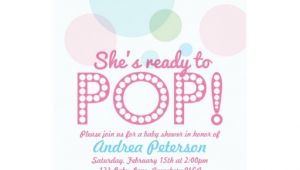 Ready to Pop Baby Shower Invites Ready to Pop Baby Shower Invitation