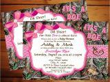 Realtree Camo Baby Shower Invitations Camouflage Baby Shower Invitations