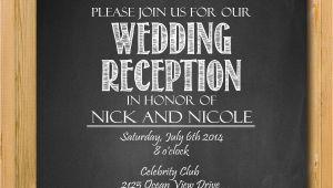 Reception Invitation Wordings Wedding Printable Wedding Reception Invitation Wedding by