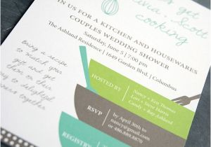 Recipe themed Bridal Shower Invitation Wording Bridal Shower Invitation and Matching Recipe Card by