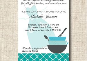 Recipe themed Bridal Shower Invitation Wording Printable Bridal Shower Invitation and Recipe Card Kitchen
