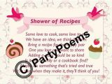 Recipe themed Bridal Shower Invitation Wording Recipe & Pantry themed Bridal Shower Poem Inserts Used
