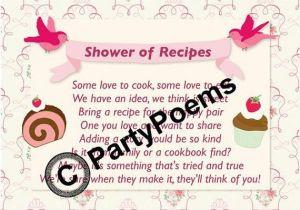 Recipe themed Bridal Shower Invitation Wording Recipe & Pantry themed Bridal Shower Poem Inserts Used