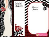 Red and Black Bridal Shower Invitations Free Printable Black and Red Bridal Shower Invitations
