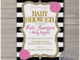 Red Black and Gold Baby Shower Invitations Baby Shower Invitation Best Red Black and White Baby