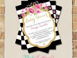 Red Black and Gold Baby Shower Invitations Baby Shower Invitation Glitter Gold Pink Invitation