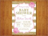 Red Black and Gold Baby Shower Invitations Pink and Gold Baby Shower Invitation Pink Black Gold Glitter