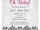 Red Black and White Baby Shower Invitations 2 000 Black White Pink Damask Invitations Black White