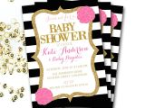Red Black and White Baby Shower Invitations Pink Black and White Baby Shower Invitation Pink and