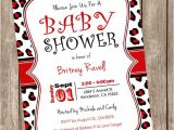 Red Black and White Baby Shower Invitations Red and Black Leopard Baby Shower Invitation Leopard Red