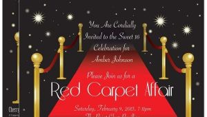 Red Carpet Bridal Shower Invitations Red Carpet Bridal Shower Invites