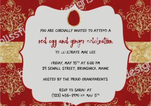 Red Egg and Ginger Party Invitation Wording Collection Red Egg and Ginger Party Invitations Good On