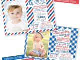 Red White and Blue 1st Birthday Invitations 4th Of July First Birthday Invitations Little by
