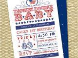Red White and Blue 1st Birthday Invitations July 4th First Birthday Invitation Red White and Blue Yankee